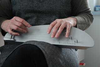 Modern kantele used in kanteleworkshop