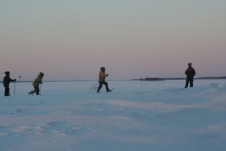 Schneeschuhwandern am Saimaa-See